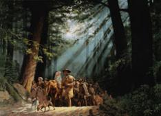 """Gateway to the West: Daniel Boone Leading the Settlers through the Cumberland Gap, 1775"" by David Wright, 2002"
